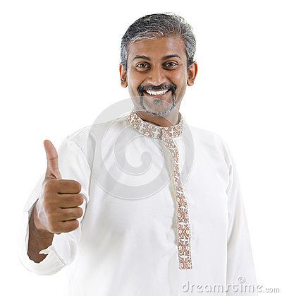 Thumb up Indian man