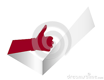 Thumb Up Like It Tick Illustration
