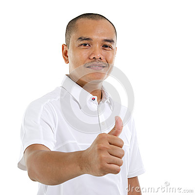 Thumb up Southeast Asian man