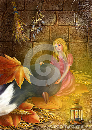 Thumbelina and the swallow