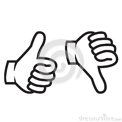 Free Thumbs Up And Down Gesture Royalty Free Stock Images - 29910459