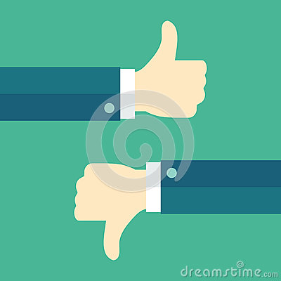 Free Thumbs Up And Thumbs Down Royalty Free Stock Photo - 50321165