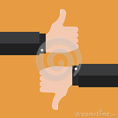 Free Thumbs Up And Thumbs Down Stock Photos - 65942123