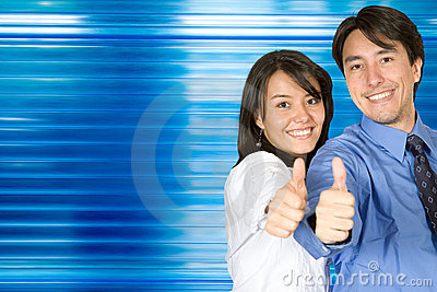 Thumbs up business  couple