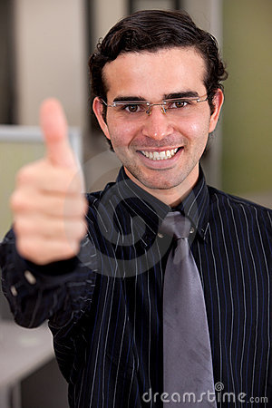 Thumbs up business man