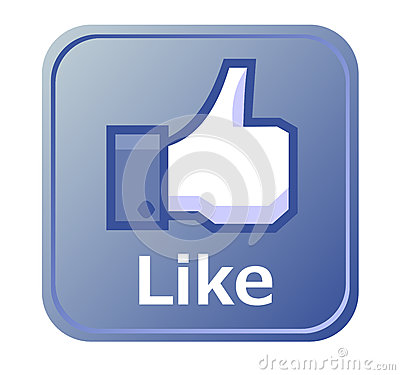 Thumbs up button - like button Editorial Stock Photo