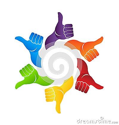 Thumbs up circle logo