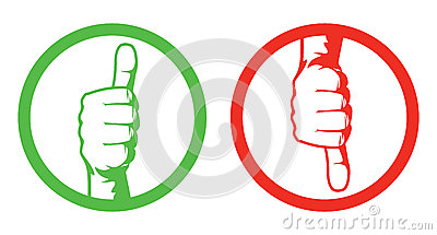 Thumbs up/down