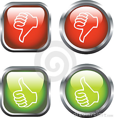 Free Thumbs Up / Down Icons Royalty Free Stock Photos - 7194888