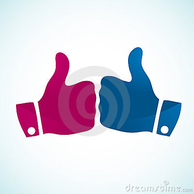 Thumbs up gesture icons