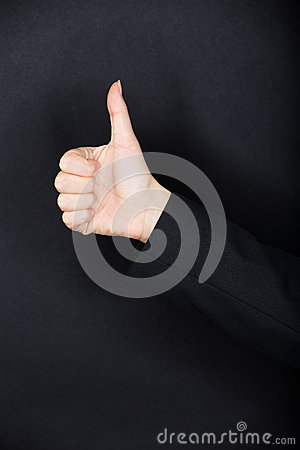 Thumbs up gesture
