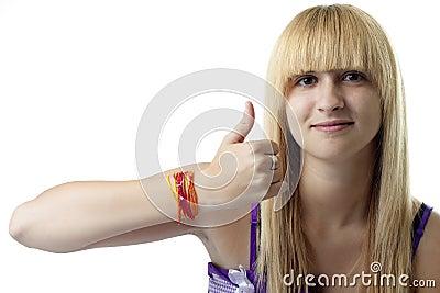Thumbs-Up Girl
