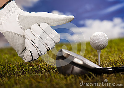 Thumbs up on golf