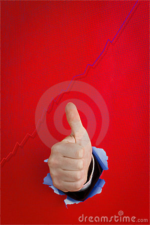 Thumbs up and graph