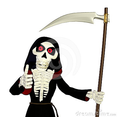 Thumbs Up Grim Reaper