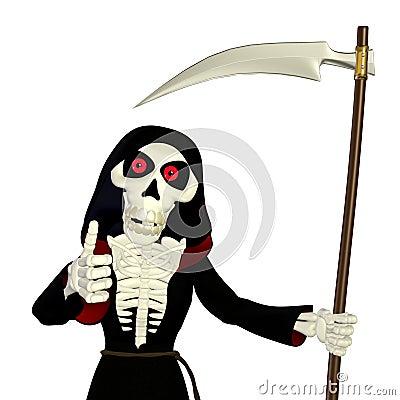 Thumbs Up Grim Reaper