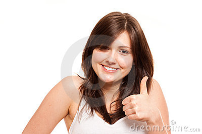Thumbs up isolated