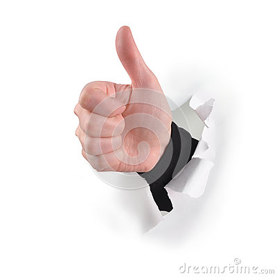 Thumbs Up Like Hand on White
