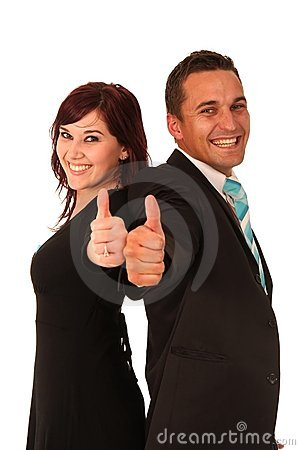 Free Thumbs Up Man And Woman Stock Photo - 10752970