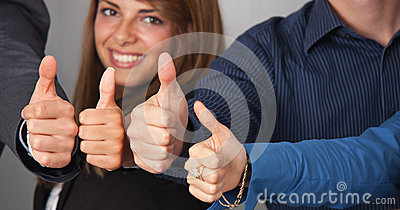 Thumbs up portrait