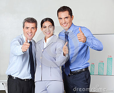 Thumbs up from successful business