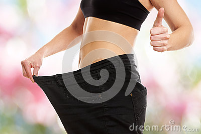 Thumbs up - Woman on diets or dieting