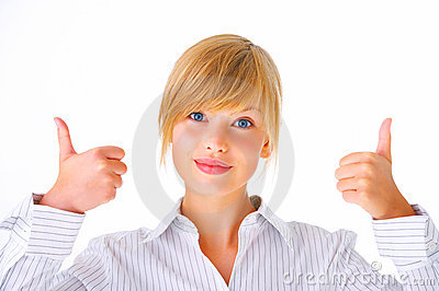 Thumbs up - Young female