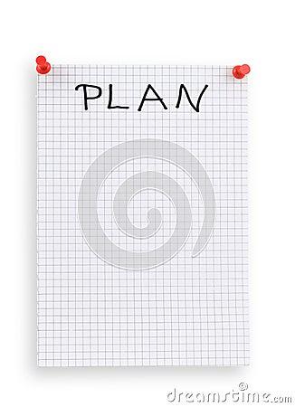 Thumbtacked plan