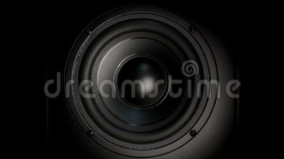 Thumping Bass Audio Speaker stock video footage