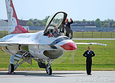 The Thunder-Bird is ready to take-off Editorial Photography