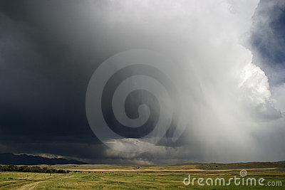 Thunder clouds roll in across Big Sky Country, Montana