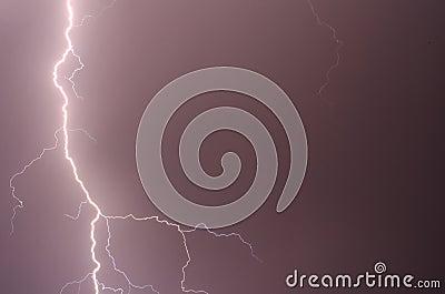 Thunder, lightnings and rain