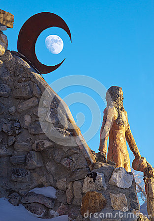 Thunder Mountain Crescent Moon Editorial Image