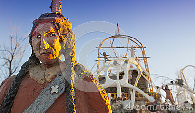 Thunder Mountain Statue Editorial Image