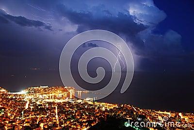 Thunder storm city