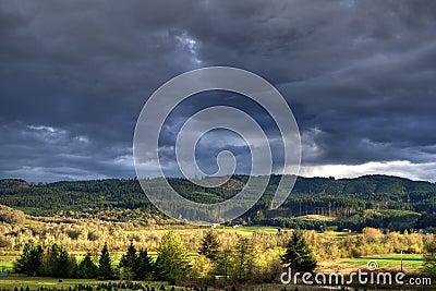 Thunder Storm Landscape