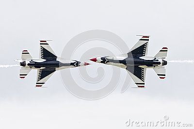 Thunderbird Jet playing chicken Editorial Photo