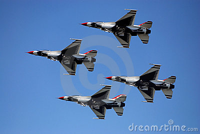 Thunderbird s performing Editorial Stock Image