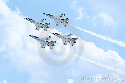 Thunderbirds Air Force Demonstration Team Editorial Image