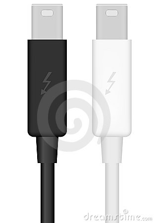 Thunderbolt Cable - Vector