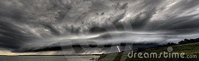 Thundercloud with lightnings