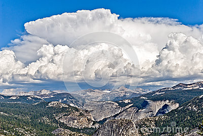 Thunderhead above Yosemite high country, Yosemite National Park,