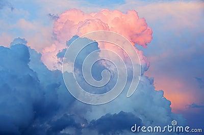 Thunderheads at Sunset