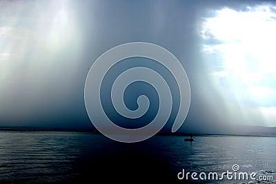 Thunderstorm cloudburst