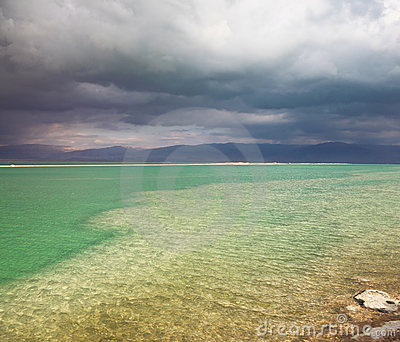 The thunderstorm at the Dead Sea