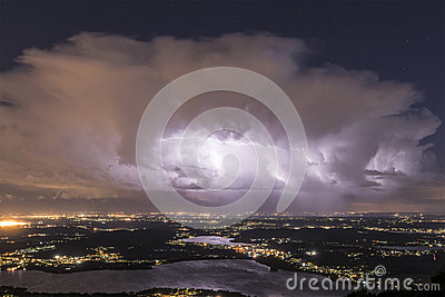 Thunderstorm at the horizon