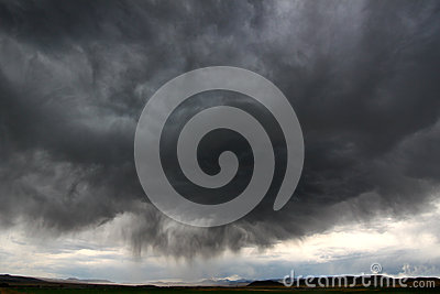 Thunderstorm i lantliga Idaho