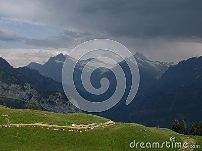 Thunderstorm Over Grindelwald