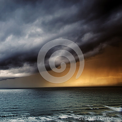 Thunderstorm / Storm Passing over Sea