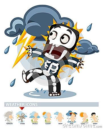 Thunderstorm. Weather Icon